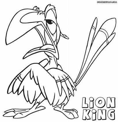 Lion Coloring King Zazu Disney Lionking Printable