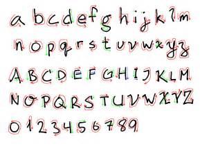 Font Number Fancy Cursive