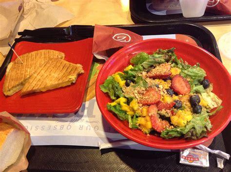 Zupas cafe. Mangoberry salad & ultimate cheddar-pesto ...
