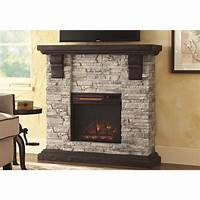 electric stone fireplace Home Decorators Collection Highland 40 in. Media Console ...