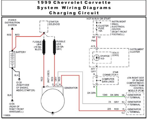 Chevrolet Corvette System Wiring Diagrams Charging