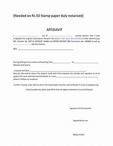 printable blank affidavit form template example with date With template for an affidavit