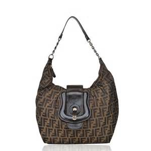 fendi bags canvas zucca monogram  buckle hobo bag