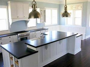 White kitchen cabinets with dark floors grey brown for Kitchen colors with white cabinets with silver framed wall art