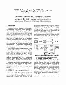 Pdf  Cpp2xmi  Reverse Engineering Of Uml Class  Sequence