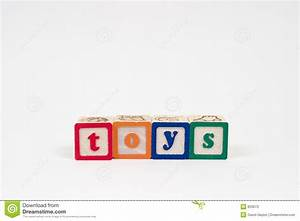 Toys in block letters stock image image of sign wooden for Block letters toys