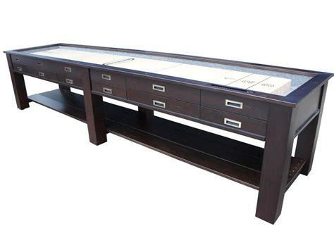 12 ft shuffleboard table berner billiards 9 12 14 or 16 foot shuffleboard table