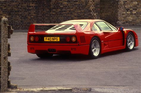 So much of its overall performance, be it objective speed against the stopwatch or the peripheral theatre. Ferrari F40 1987-1992 Review (2017)   Autocar