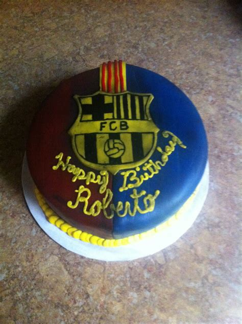 cakecreated fc barcelona birthday cake