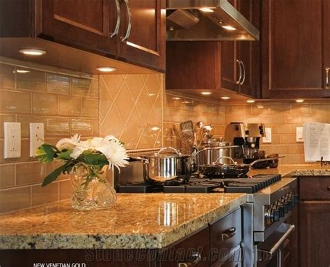 Venetian Gold Backsplash : New Venetian Gold Granite Countertop, New Venetian Gold
