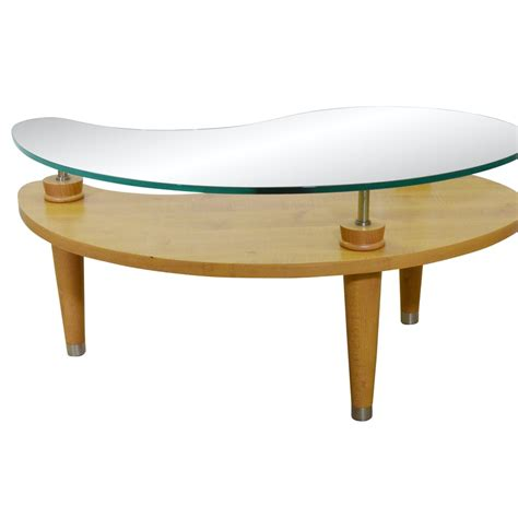 View more glass coffee table mid century. Mid Century Modern Style Kidney Shape Glass and Wood Cocktail Table, 21st Cent. | EBTH