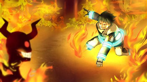 fire force shinra kusakabe  fire hd anime wallpapers