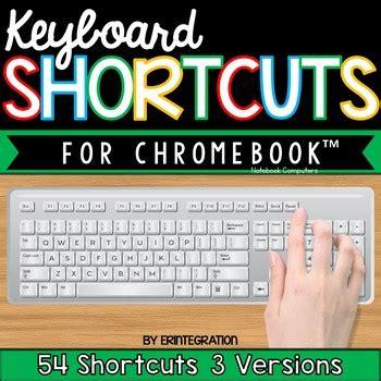 chromebook shortcut posters  erintegration teachers