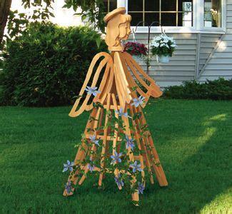 angel trellis wood project plan garden wood trellis