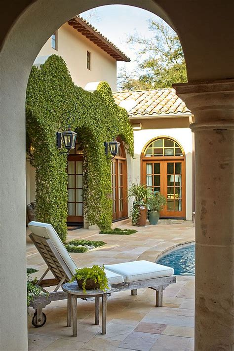 pin  melanie   enchanting courtyard design mediterranean patio spanish style homes