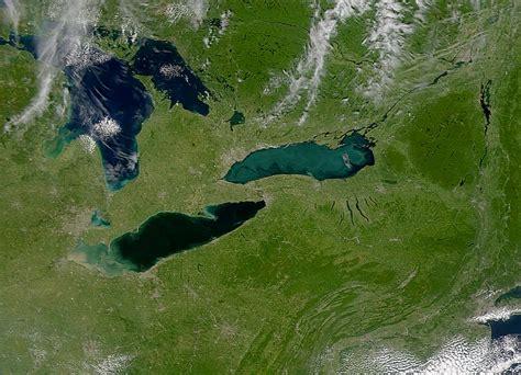 nasa visible earth lakes erie  ontario