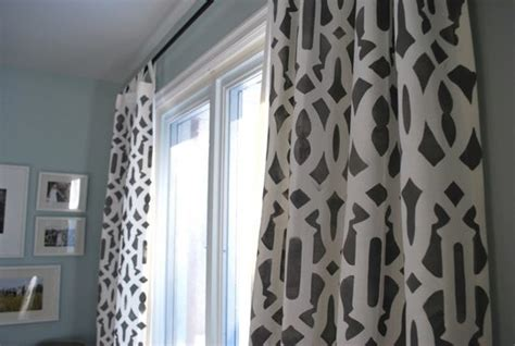 Stenciled Drop Cloth Curtains Blue Childrens Curtains Uk Pattern Kitchen White Eyelet Valance Blackout On Tension Rod And Black 84 Grommet Vertical Blinds With Ideas Homebase Telescopic Shower Curtain Rail Instructions