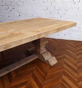 grande table de ferme table monastere ancienne en bois With vieille table de ferme