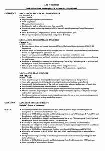 Mechanical Engineering Resume Sample Mechanical Lead Engineer Resume Samples Velvet Jobs