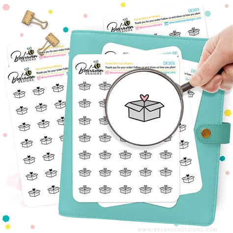 Parcel Mini Icons Stickers Functional Planner Stickers