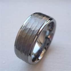 mens tungsten wedding band 9mm tungsten carbide 39 s wedding band ring brushed finish hammered cut sz 6 15 ebay