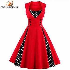 41d87100a87 s 5xl women robe pin up dress retro 2018 vintage 50s 60s rockabilly dot  swing summer female