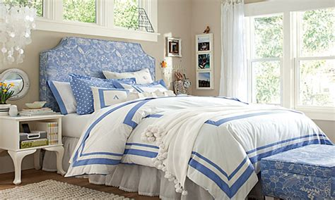 Bedroom White And Blue Hotel Duvet Pictures, Decorations