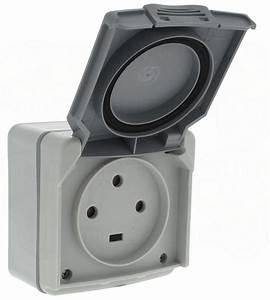 Prise électrique Extérieure étanche Legrand : prise saillie tanche 3p t 20a volet legrand plexo gris ~ Dallasstarsshop.com Idées de Décoration