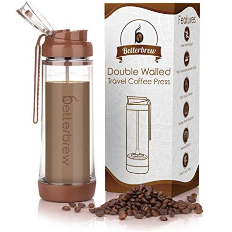 Made by the big brand coffee enthusiasts at bodum, this travel coffee maker holds up to 15 ounces of coffee and is an impressive little addition to your travel kit. Betterbrew Travel French Press Coffee Maker | Portable Insulated Coffee Press with Plunger for ...