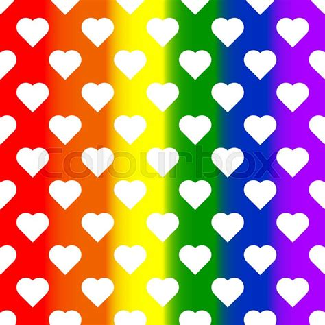 Lgbt Background White Hearts On Rainbow Background Lgbt Background