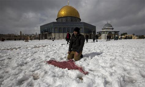 jerusalem  le proche orient sous la neige