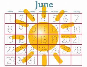 6 best images of free printable preschool calendar numbers With preschool calendar template printables