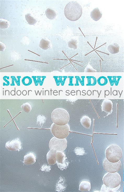 22 winter crafts for three year olds no time for flash cards 375 | snow window winter preschool activity