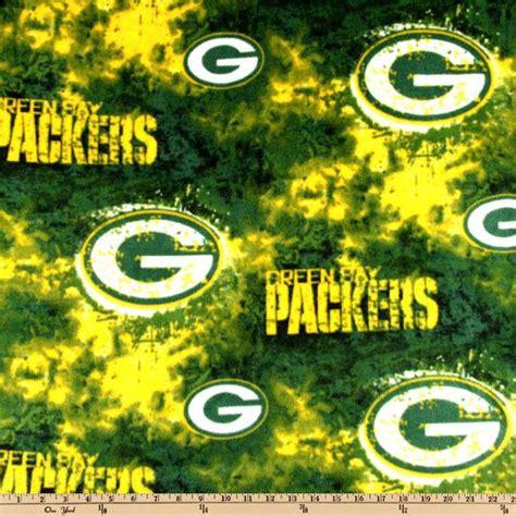 nfl fleece green bay packers tie dye green yellow discount designer fabric fabric com
