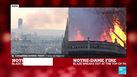 notre dame fire extremely shocking    huge
