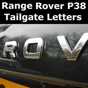 range rover p38 chrome tailgate lettering curved With range rover replacement letters