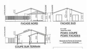 Plan de coupe maison plan de petite maison upload photos for Plan de maison facade 0 maison individuelle bagles pascal rigaud architecte