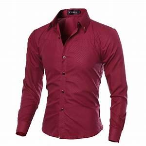 Luxury New Fashion Mens Slim Fit Shirt Long Sleeve Dress ...