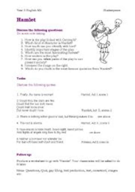 hamlet worksheets