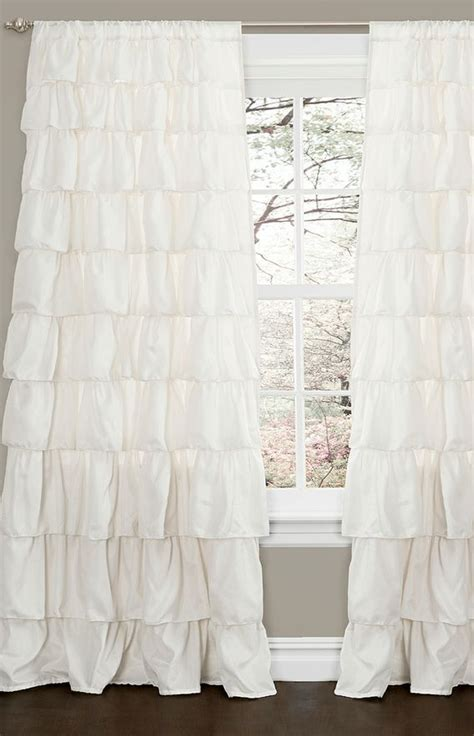 ivory ruffle blackout curtains 25 best ideas about ruffle curtains on