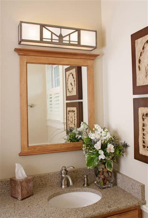 Bathroom lighting over mirror, craftsman style bathroom