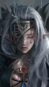 Download 720x1280 Wallpaper Elf Woman Dark Fantasy