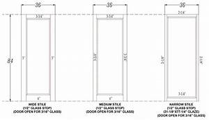 Cabinet Stile And Rail Size Savae org