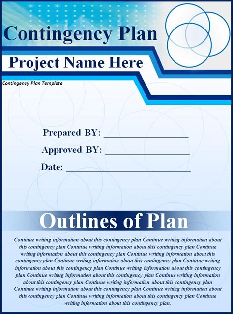 contingency plan sample  word templates