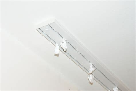 curtain rail track ceiling pvc or hooks