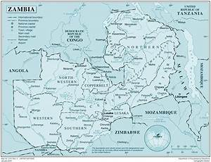 Large detailed political map of Zambia with all cities and ...