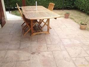 Peinture Terrasse Béton : manon fils r alisation de sols en b ton d coratif ~ Premium-room.com Idées de Décoration