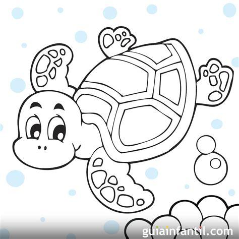 Dibujos de tortugas para imprimir y colorear