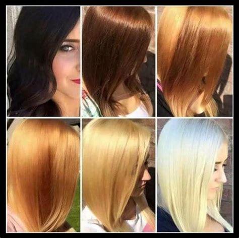 les etapes pour devenir blonde bac  cheveux