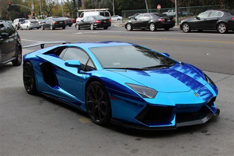 Chrome Blue Lamborghini Aventador Lp700-4 [3110x2073